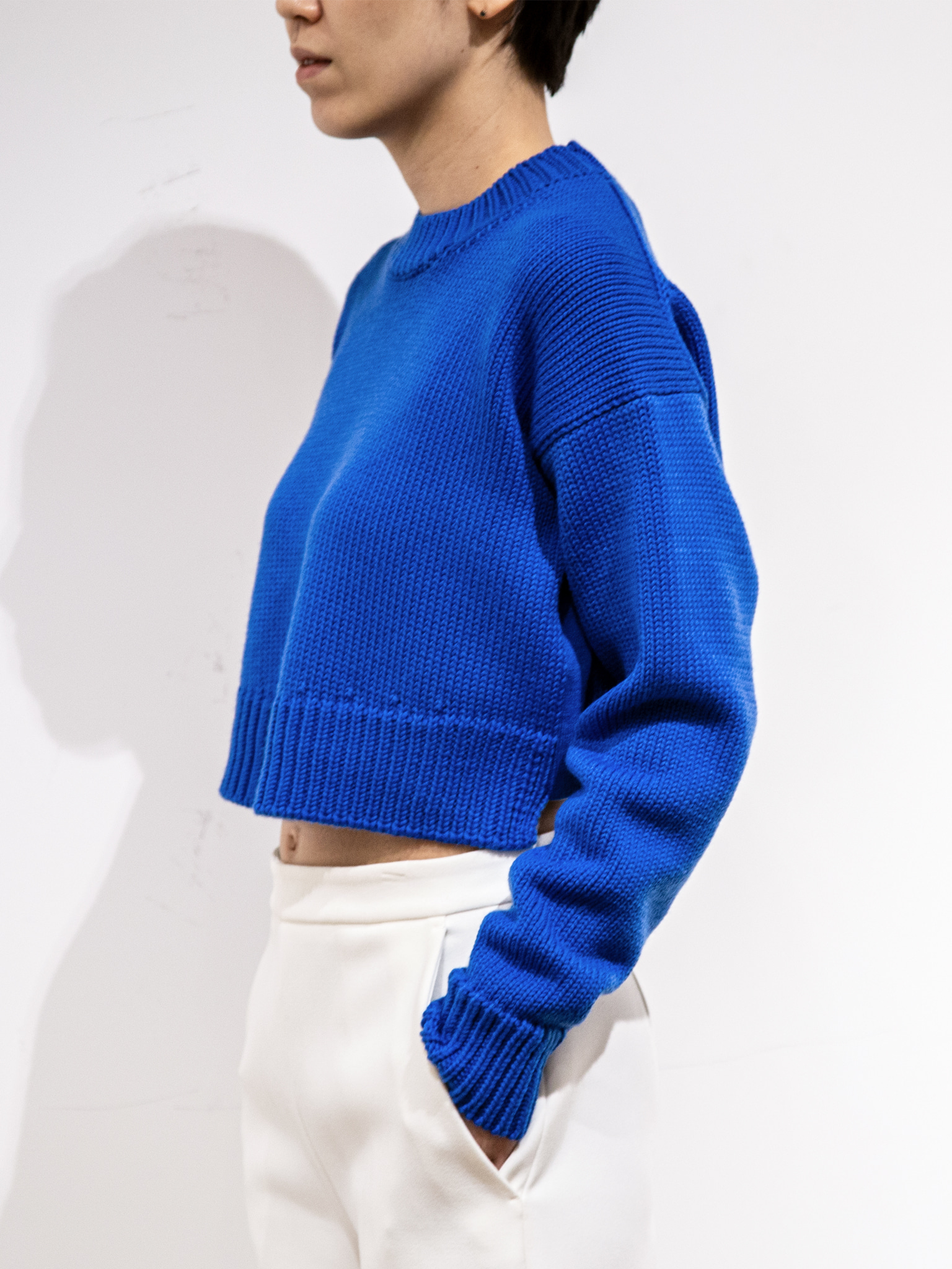 with INNO HOME Crop Knit Pullover