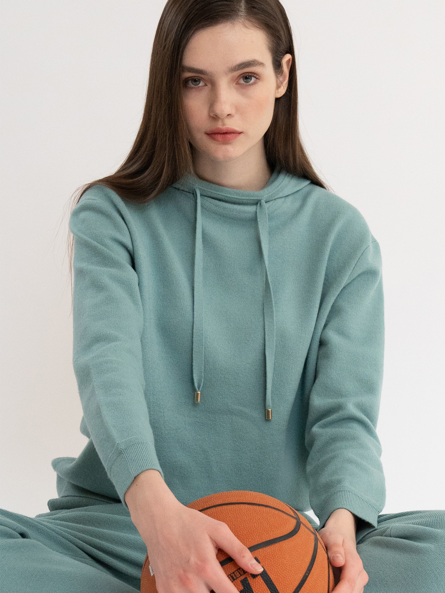 KKLL COLLECTION / PREMIUM BASIC KNIT HOODIE_MINT