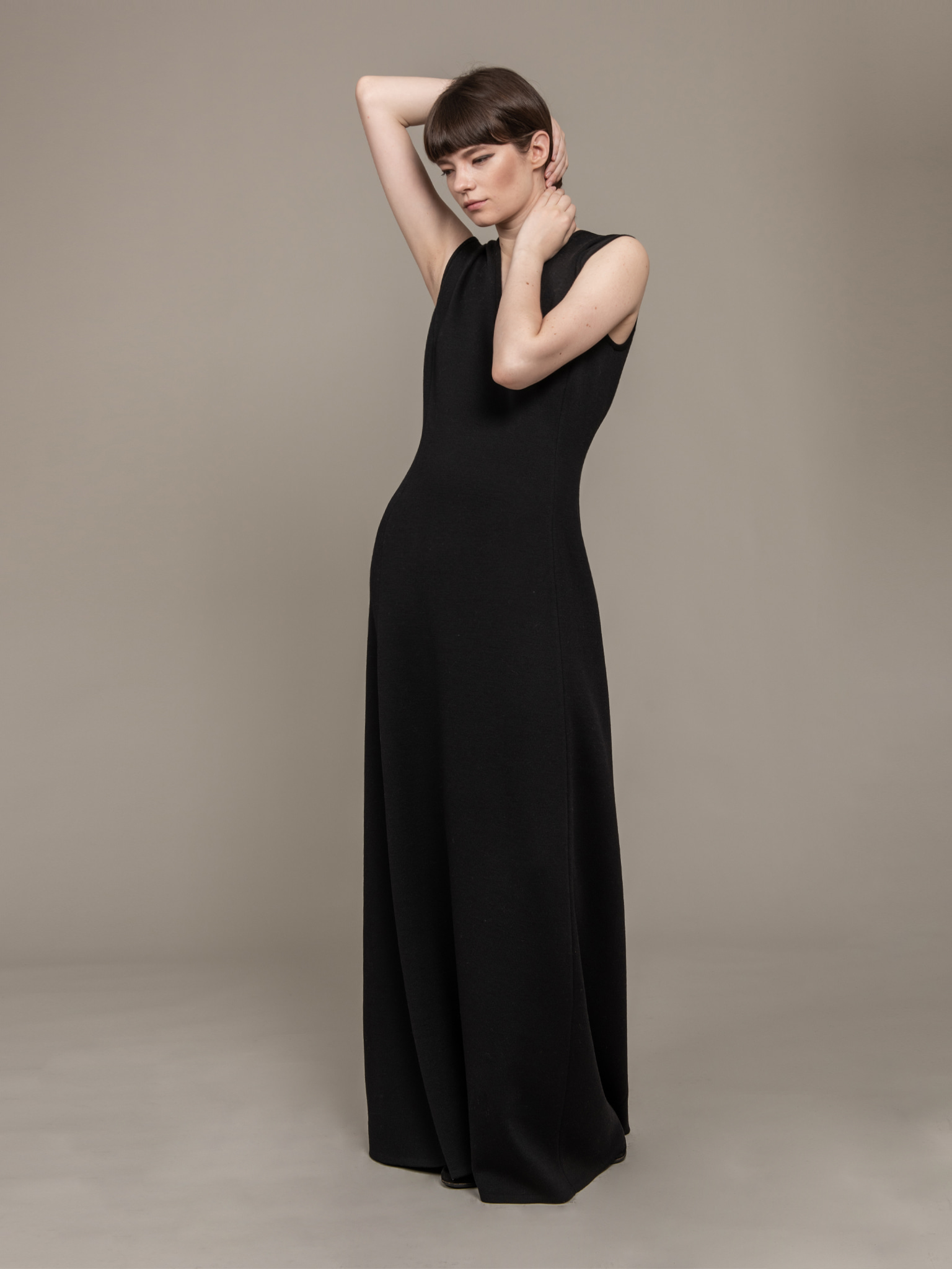 Minimal Wool Dress Long